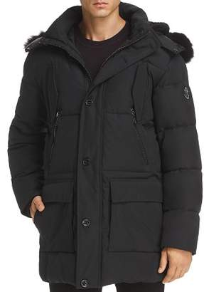 Karl Lagerfeld Paris Faux Fur-Trimmed Puffer Coat