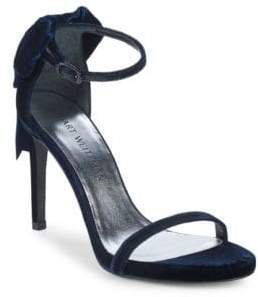 Stuart Weitzman Mybow Suede Stiletto Sandals