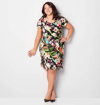 Avenue Tropical Floral A-Line Dress