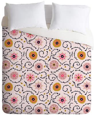 Deny Designs Holli Zollinger Suzani Pink King Duvet Set Bedding