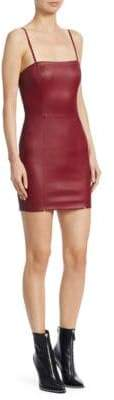 T by Alexander Wang Leather Cami Mini Dress