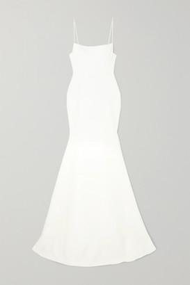 Alex Perry Eliza Satin-crepe Gown - White