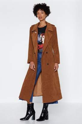 Nasty Gal Cover Ground Corduroy Trench Coat