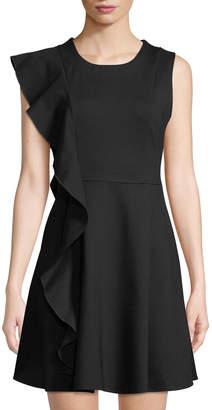 Few Moda Asymmetric Ruffled Fit-&-Flare Dress