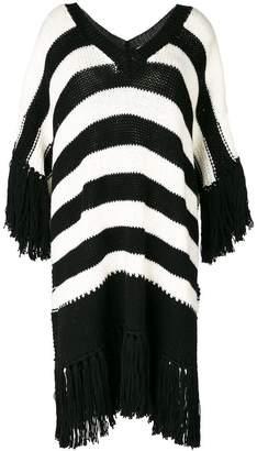 Ermanno Scervino fringed striped jumper