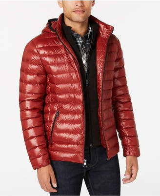 Calvin Klein Men Packable Down Hooded Puffer Jacket