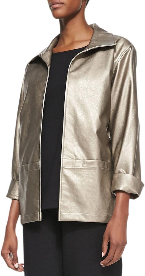 Caroline RoseCaroline Rose Modern Faux-Leather Jacket
