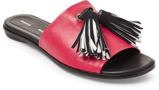 Proenza Schouler Red & Black Tasseled Slide Sandals