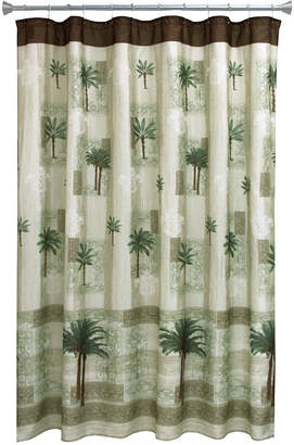 "Bacova Citrus 70"" x 72"" Palm-Print Shower Curtain Bedding"