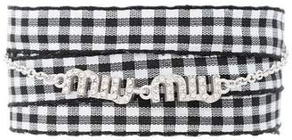 Miu Miu gingham logo bracelet