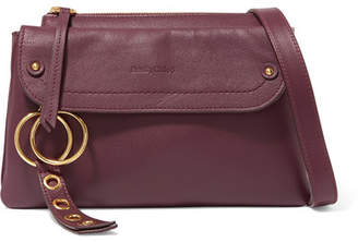 See by Chloe Phill Textured-leather Shoulder Bag - Burgundy