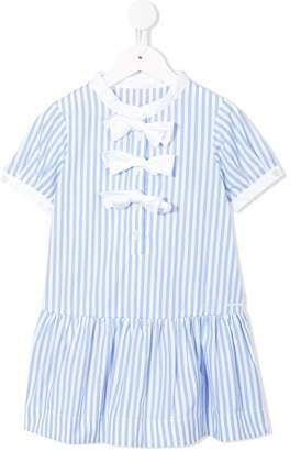 Simonetta striped bow dress