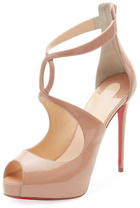 Christian Louboutin Rosie Patent Platform Red Sole Pumps