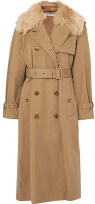Elizabeth and James Stratford Shearling-trimmed Cotton-blend Twill Trench Coat - Camel