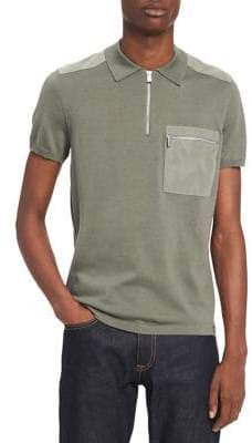 Calvin Klein Short-Sleeve Quarter-Zip Tee