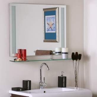 Décor Wonderland Frameless Amyrilla Mirror with shelf