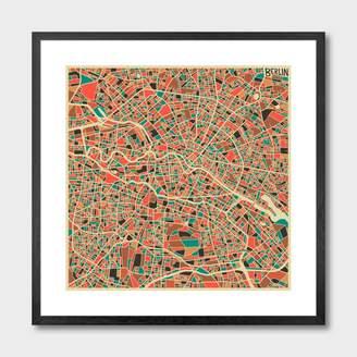 Monde Mosaic Berlin, Germany Map Art Print