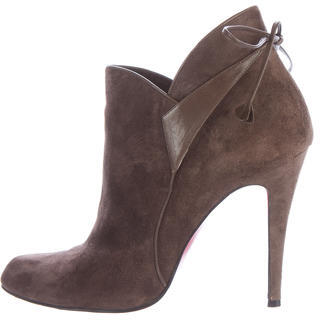 Christian Louboutin Christian Louboutin Semi-Pointed Suede Booties