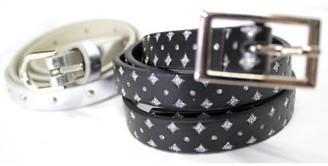 No Boundaries Ladies Faux Leather 2 piece Fashion Skinny Belts
