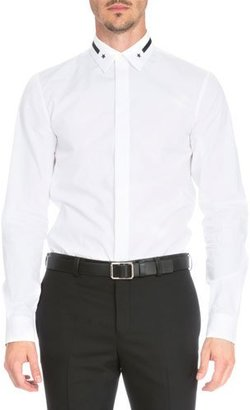 Givenchy Star & Stripe-Collar Button-Down Shirt, White $440 thestylecure.com