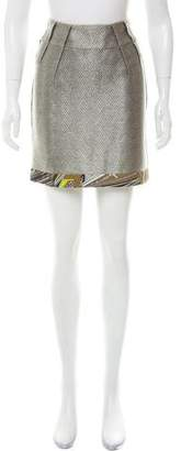 Matthew Williamson Satin Knee-Length Skirt