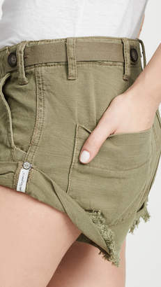 One Teaspoon Militaire Bandits Denim Shorts