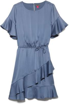 Satin Ruffled Dress