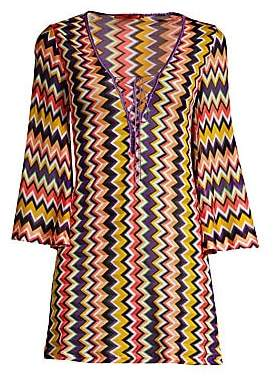 Missoni Mare Women's Zigzag Iconico Short Lace-Up Caftan