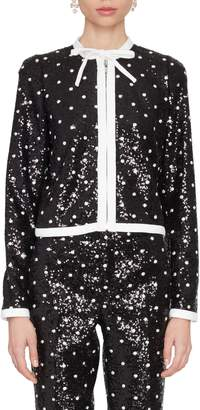 Giambattista Valli Sequined Polka-Dot Jacket