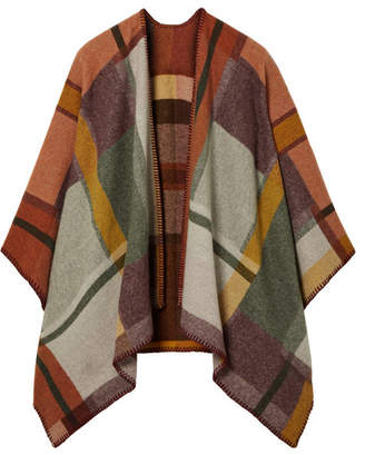 Holzweiler - Escolar Checked Wool And Cashmere-blend Poncho - Brown