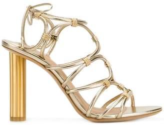 Salvatore Ferragamo strappy metallic sandals