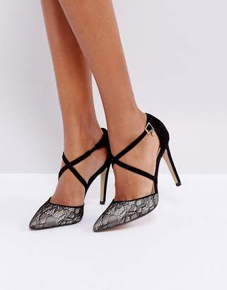 Dune Cordelia Lace Point High Heels