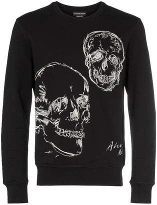 Alexander McQueen Embroidered Skull motif sweater
