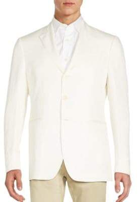 John Varvatos Regular-Fit Linen & Silk Sportcoat