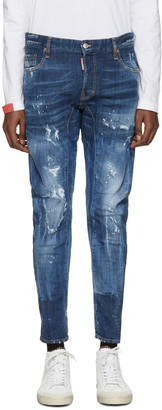 Dsquared2 Blue Tidy Biker Jeans $685 thestylecure.com