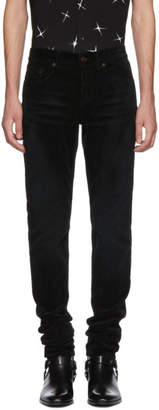 Saint Laurent Black Skinny Cord Trousers