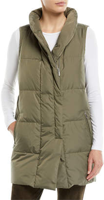 Lafayette 148 New York Quilted Puffer Down Vest w/ Back Zip