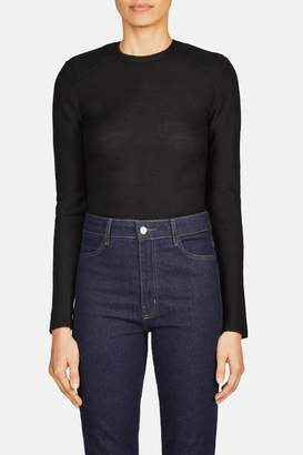 Lemaire Padded Shoulder Sweater - Black