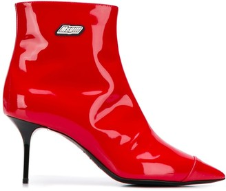 MSGM stiletto heel ankle boots
