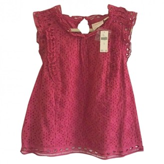 Anthropologie Pink Cotton Top for Women