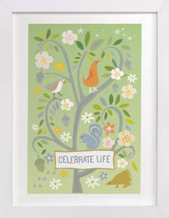 Celebrate Life Nursery Art Print