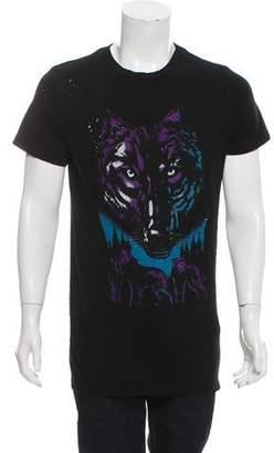 Amiri Graphic Wolf Print T-Shirt w/ Tags