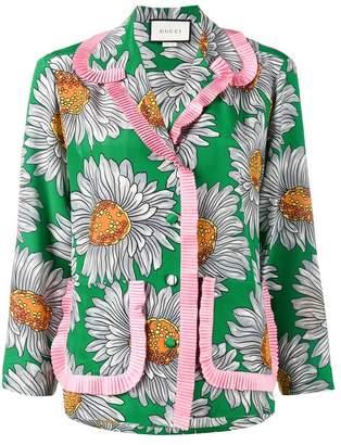 Gucci (グッチ) - Gucci フローラル柄 パジャマスタイルシャツ