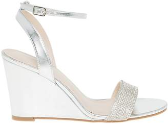 Le Château Women's Embellished Metallic Wedge Sandal