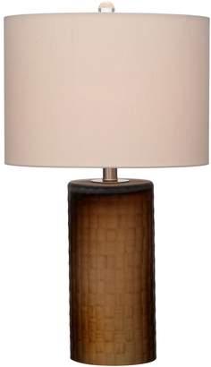 Viz Glass Weave Base Table Lamp