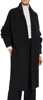 Vince Notched-Collar Wool Cardigan