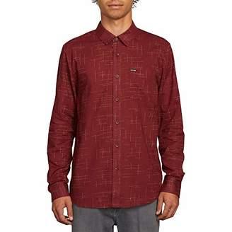 Volcom Men's Quency Do Button up Long Sleeve Shirt