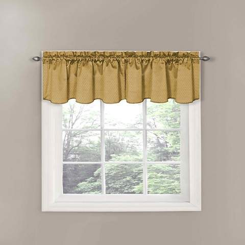 Thermaback Canova Blackout Window Valance - Gold (42