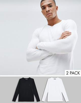 French Connection 2 Pack Crew Neck Long Sleeve Top