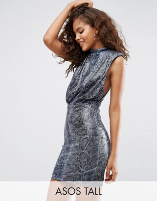 ASOS Tall ASOS TALL Sequin Animal Low Armhole Mini Dress $68 thestylecure.com